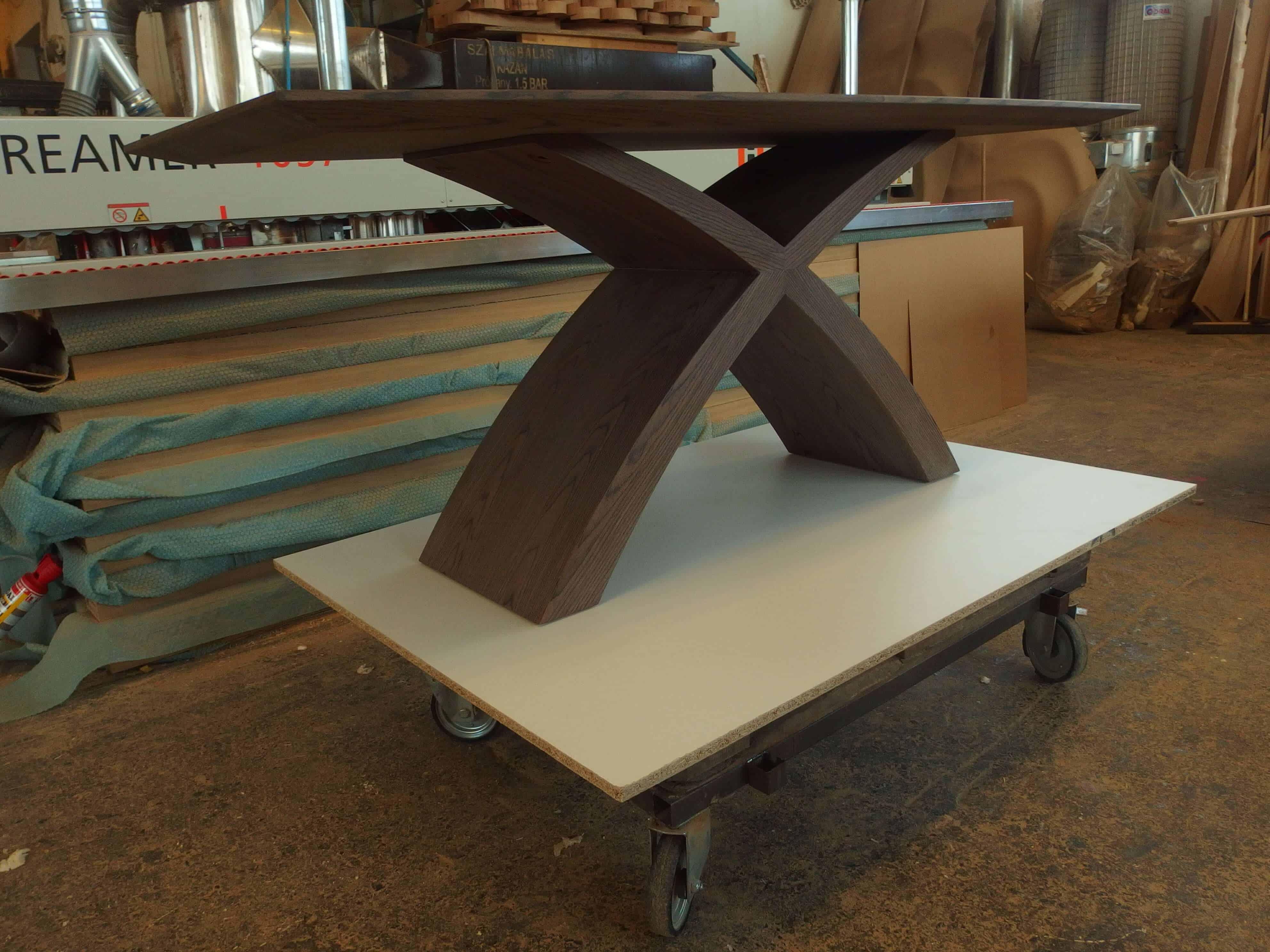 X lábú Alpi többszörkéselt amerikai dió egyedi fa étkezőasztal