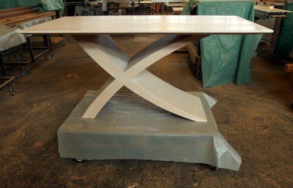 """Zeg asztal: """"4"""" fehér Alpi többszörkéselt tölgy, Alpi 10.82"""