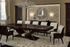 Art deco tárgyaló asztal, valódi makasszár ében, magasfényű lakkozott