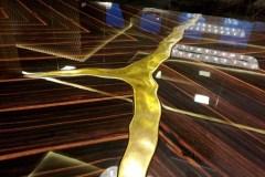 Nagyméretű egyedi art deco makasszár ében tárgyaló asztal
