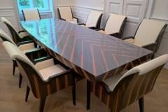 Art deco tárgyalóasztal székekkel art deco tárgyalóasztal tárgyalóasztal étkezőasztal ebédlőasztal irodaberendezés art deco karosszék székek tárgyalószék irodaszék étkezőszék