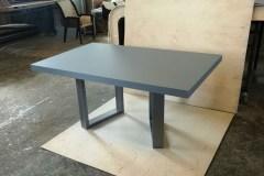 minimál nyitható asztal Minimál nyitható Cubus asztal, fenix dekor acél lábú asztal, étkezőasztal, modern ebédlőasztal, minimál tárgyalóasztal