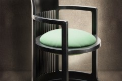 design karosszék barrel Frank Lloyd Wright nyomán