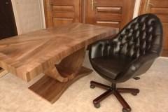 Art deco természetes hazai dió egyedi nagyméretű tárgyalóasztal íróasztal szék forgószék mélytűzött mélyhúzott bőr