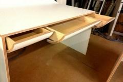 alba egyedi íróasztal fa dekor fenix corian lakos dániel terve