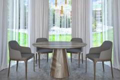 Egyedi kerek társalgó asztalok