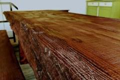 Egyedi rusztikus tömörfa asztal pad kerti asztal szék ülőke grill asztal grillező kerthelység