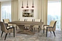 amerikai dió art deco asztal nyitható bővíthető étkezőasztal ebédlőasztal