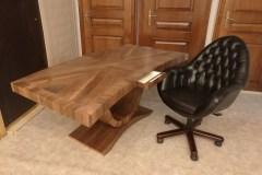íróasztal szék forgószék mélytűzött mélyhúzott bőr 1 Art deco természetes hazai dió egyedi nagyméretű tárgyalóasztal