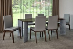 """Éklábú asztal: """"5"""" wenge (beton)"""