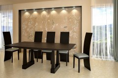 Tenzo Wenge egyedi fa étkezőasztalok webáruház