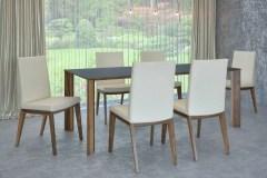 dió fenix  éklábú asztal nyitható bővíthető étkezőasztal ebédlőasztal