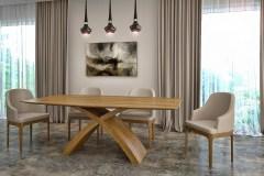 X lábú asztal: Természetes tölgy egyedi nyitható étkezőasztalok webáruház