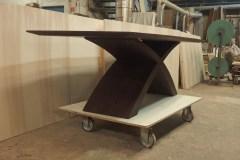 """""""X"""" lábú asztal: Wenge egyedi nyitható étkezőasztalok webáruház"""