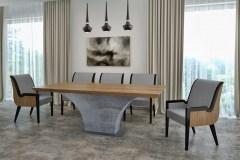 Highland asztal:  Természetes tölgy egyedi nagyméretű beton lábú tárgyalóasztalok webáruház