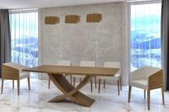 Kehely hazai dió egyedi bővíthető design étkezőasztal - Ábrahám Műhely