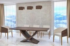 reverz nyitható bővíthető design asztal fa étkező asztal