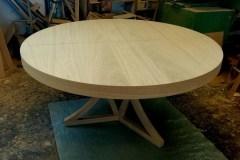 Zeg tölgyfa egyedi kerek nyitható étkező és tárgyalóasztal