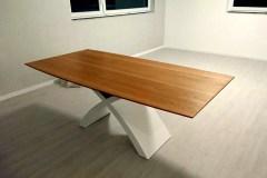 Fehér X lábú Természetes tölgy egyedi bővíthető ebédlőasztalok webáruház 3