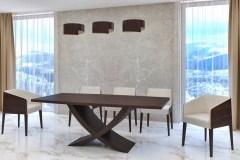 Kehely nyitható, bővíthető étkező asztal tárgyaló asztal wenge asztal