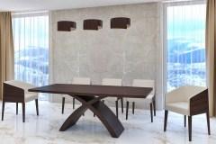 reverz nyitható bővíthető design asztal fa étkező asztal (5)