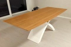 Fehér X lábú  Természetes tölgy egyedi bővíthető ebédlőasztalok webáruház 2
