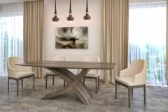 amerikai dió zeg asztal nyitható bővíthető étkezőasztal ebédlőasztal