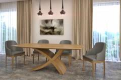 tölgy zeg asztal nyitható bővíthető étkezőasztal ebédlőasztal