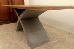 Természetes tölgy egyedi bővíthető ebédlőasztalok beton lábbal webáruház  2