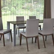 Éklábú asztal: Wenge egyedi bővíthető konferenciaasztalok webáruház   (beton)