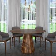 Természetes hazai dió egyedi kerek ebédlőasztalok webáruház