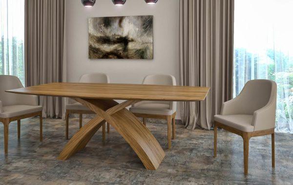 X- Lábú asztal  Természetes hazai tölgy egyedi nyitható étkezőasztalok webáruház