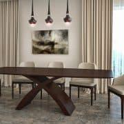 X lábú asztal: Wenge egyedi nyitható étkezőasztalok webáruház