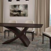 Zeg asztal Wenge egyedi nyitható ebédlő asztal webáruház