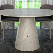 Alpi többszörkéselt tölgy, Alpi 10.82 egyedi kerek ebédlőasztalok webáruház