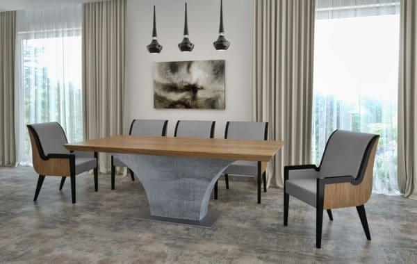 Highland betonlábú egyedi ebédlő és tárgyalóasztalok webáruház