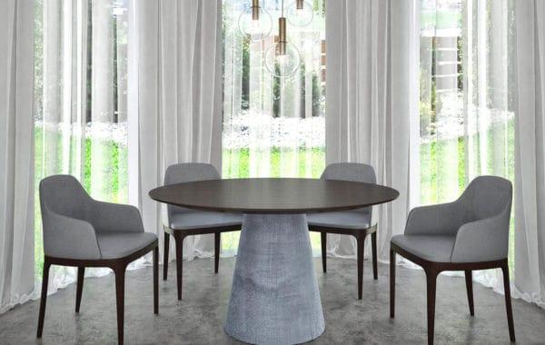Kerek betonlábú egyedi étkezőasztalok webáruház