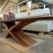 ZEG asztal, hazai dió, 300 + 60 cm nyitható