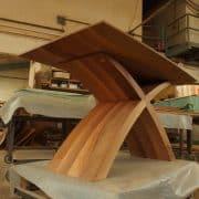 X lábú  Természetes hazai dió egyedi étkezőasztal webáruház , 140x90 cm asztallappal