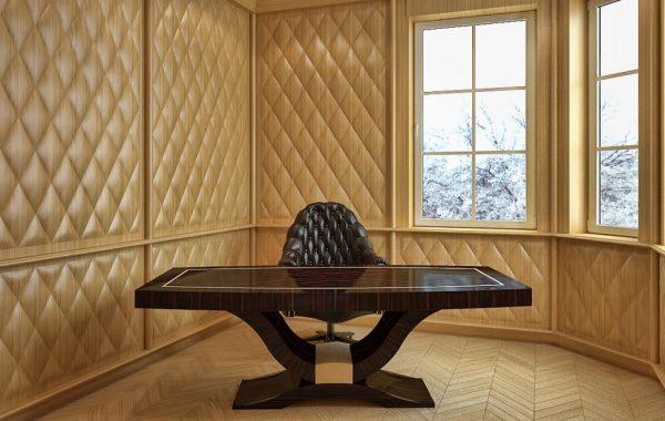 Art deco természetes hazai dió egyedi nagyméretű tárgyalóasztal Art deco kisméretű íróasztal