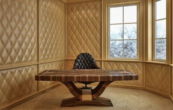 Art deco kisméretű íróasztal Art deco természetes hazai dió egyedi nagyméretű tárgyalóasztal