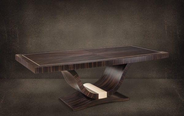 Art Deco tárgyaló asztal, ammara ében