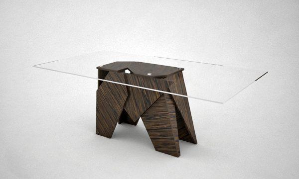 Jégtáblás Random egyedi fa paneles asztalok webáruház