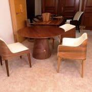 kerek asztal kör ebedlo etkezo asztal design targyaloasztal 1