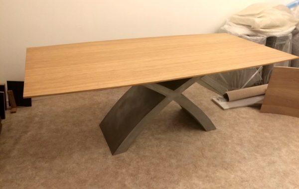 Természetes tölgy egyedi bővíthető ebédlőasztalok beton lábbal webáruház 5
