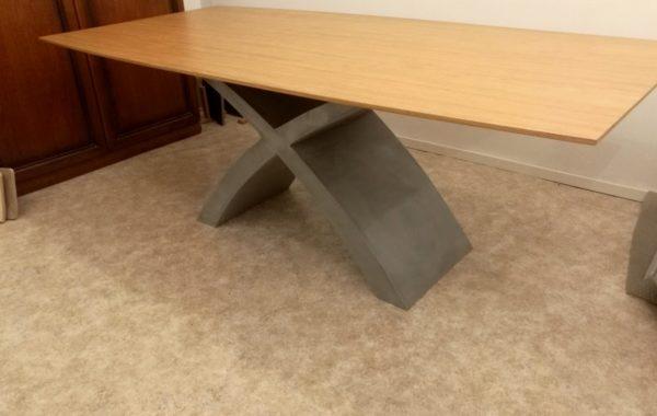 Természetes tölgy egyedi bővíthető ebédlőasztalok beton lábbal webáruház