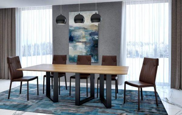 Cubus egyedi fa, acél, üveg lábú étkező és tárgyalóasztalok webáruház