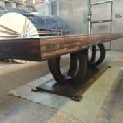 ziricote fa targyaloasztal bovitheto nyithato etkezoasztal ebedloasztal 21