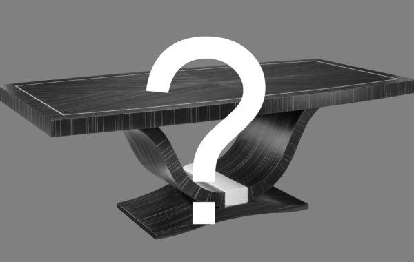 Art Deco egyedi kialakítású nagyméretű tárgyalóasztal választható asztallappal és lábbal
