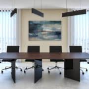 minimál tárgyalóasztal étkezőasztal üveg lábbal  modern design egyedi ebédlőasztal